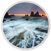 Cornwall Round Beach Towel
