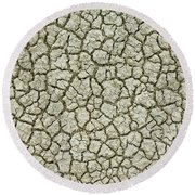Cracked Dry Clay Round Beach Towel