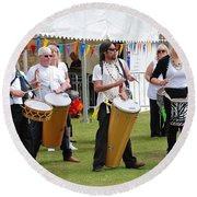 Dende Nation Samba Drum Troupe Round Beach Towel