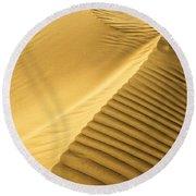 Desert Sand Dune Round Beach Towel