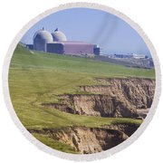 Diablo Canyon Nuclear Power Station Round Beach Towel