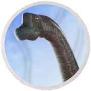 Dinosaur Brachiosaurus Round Beach Towel