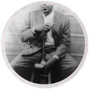 Dizzy Gillespie (1917-1993) Round Beach Towel