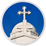 Dome Of Agios Georgios Chapel Round Beach Towel