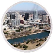 Downtown Austin Round Beach Towel