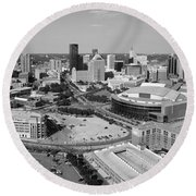 Downtown Skyline Of St. Paul Minnesota Round Beach Towel