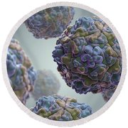 Echo Virus Round Beach Towel