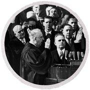Eisenhower Inauguration Round Beach Towel