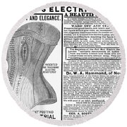 Electric Corset, 1882 Round Beach Towel