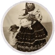 Ellis Island Women, C1910 Round Beach Towel