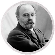 Emile Zola (1840-1902) Round Beach Towel