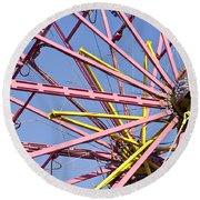 Evergreen State Fair Ferris Wheel Round Beach Towel