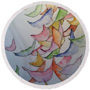 Falling Into Place Round Beach Towel by Sherry Harradence
