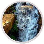 Finlay Park Waterfall 2 Round Beach Towel