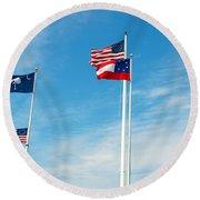 Fort Sumter, Sc Round Beach Towel