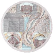 Fortune Of Castles Round Beach Towel