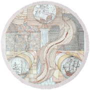 Fortune Of Ships Round Beach Towel