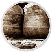 Four Boulders Round Beach Towel