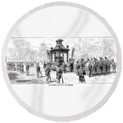 Garfield Funeral, 1881 Round Beach Towel