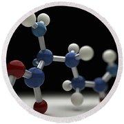 Glutamine Molecule Round Beach Towel