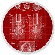 Golf Ball Patent 1902 - Red Round Beach Towel