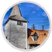 Greensted Church Ongar Round Beach Towel