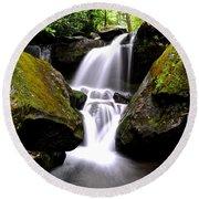 Grotto Falls Round Beach Towel
