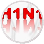 H1n1 Sign Round Beach Towel
