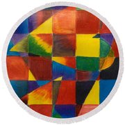 3 Hearts Squared Round Beach Towel