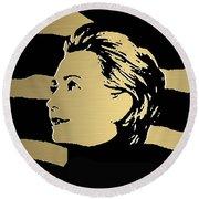 Hillary Clinton Gold Series Round Beach Towel