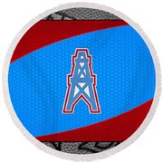 Houston Oilers Round Beach Towel