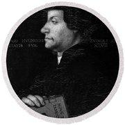 Huldreich Zwingli (1484-1531) Round Beach Towel