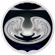 Ice Storm Abstract Round Beach Towel