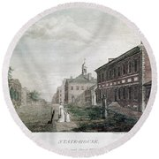 Independence Hall, 1798 Round Beach Towel