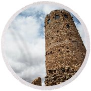 Indian Watchtower Grand Canyon Round Beach Towel