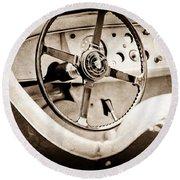 Jaguar Steering Wheel Round Beach Towel