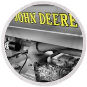 John Deere Round Beach Towel by Dan Sproul