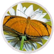 Julia Butterfly Round Beach Towel