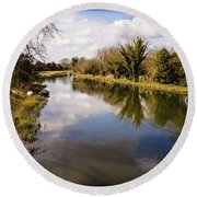 Kennet And Avon Canal Round Beach Towel