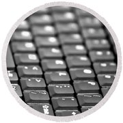 Keyboard Round Beach Towel