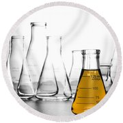Laboratory Equipment In Science Research Lab Round Beach Towel