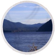 Lakes 5 Round Beach Towel