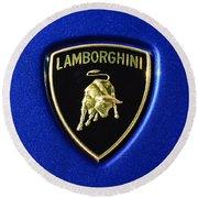 Lamborghini Emblem Round Beach Towel