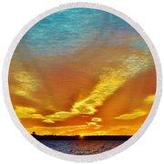 3 Layer Sunset Round Beach Towel