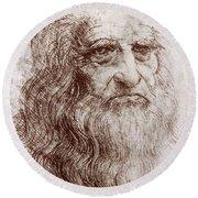 Leonardo Da Vinci (1452-1519) Round Beach Towel