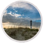 Sc Lighthouse View Round Beach Towel