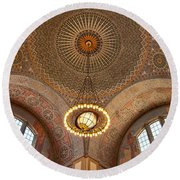 Los Angeles Central Library. Round Beach Towel