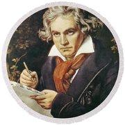 Ludwig Van Beethoven (1770-1827) Round Beach Towel