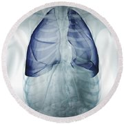 Lungs Within The Chest Round Beach Towel