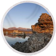 Mono Lake California Round Beach Towel by Jason O Watson